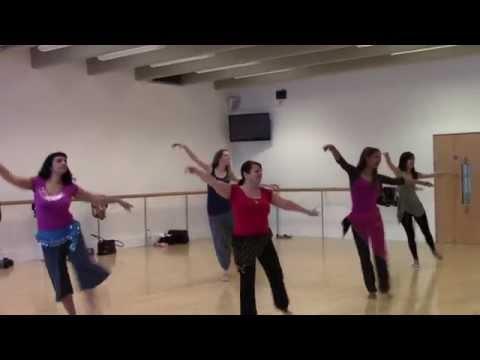 Belly dance class pop Choreography - (Fakernee-Haifa Wehbe)