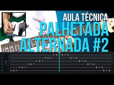 Exerc�cios de Palhetada Alternada #2 (aula t�cnica de guitarra)