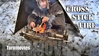 getlinkyoutube.com-Cross Stick Fire Bushcraft Cooking HD Bushcraft Survival Video