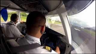 getlinkyoutube.com-Dornier 328 Cockpit view - Visual approach runway 02 at Medellin (Olaya Herrera) Airport