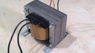 getlinkyoutube.com-Transformador 12V feito com transformador de estabilizador Parte 2 Montagem
