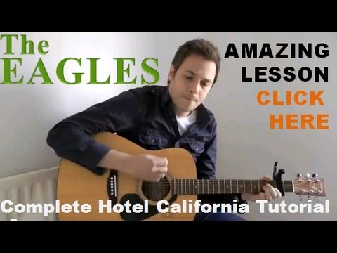 The Eagles - Hotel California - Acoustic Guitar Lesson - Easy Acoustic Guitar Lesson
