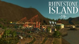 "getlinkyoutube.com-Cities Skylines - Rhinestone Island [PART 19] ""Massive Cargo Hub!"""