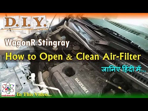 Maruti Suzuki WagonR Stingray Air Filter Cleaning