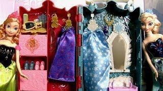 getlinkyoutube.com-Princesa Anna e Elsa Guarda-Roupa Real das Princesas Disney Frozen - Royal Closet Princess Anna Elsa