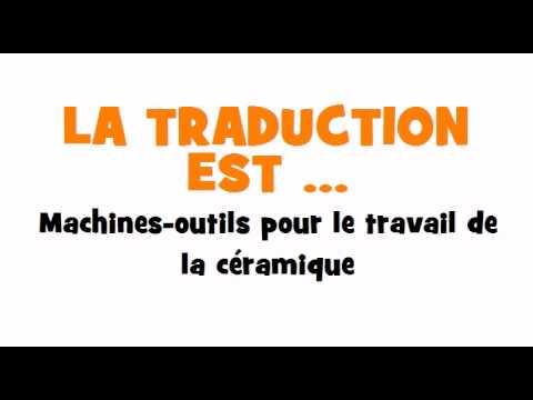 TRADUCTION ESPAGNOL+FRANCAIS = Máquinas herramienta para trabajar cerámica