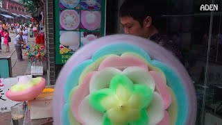 getlinkyoutube.com-Cotton Candy Flower - the biggest in the world / 綿菓子 / 솜사탕 / Zuckerwatte / Algodón de Azúcar