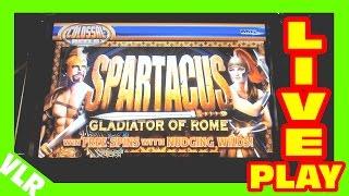 getlinkyoutube.com-Spartacus - COLOSSAL REELS - Slot Machine LIVE PLAY - Freeplay Friday 48
