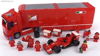 getlinkyoutube.com-LEGO Speed Champions F14 T & Scuderia Ferrari Truck review!