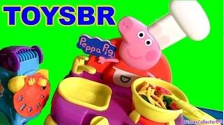 getlinkyoutube.com-TOYSBR A Cozinha Musical da Peppa Pig Cooking Set | Aprenda o Alfabeto com Peppa Pig em Portugues BR