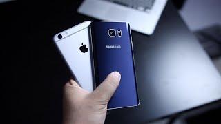 مقارنة بين اجهزة Samsung Galaxy Note 5 Vs iPhone 6s Plus