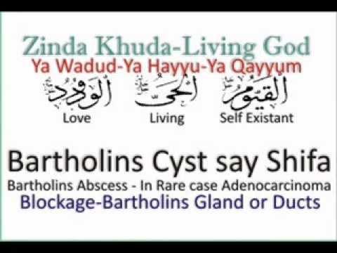Bartholins Cyst say Shifa