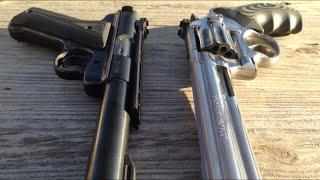 getlinkyoutube.com-S&W Model 617 vs Ruger MKIII Target: Post 2500+ Rounds