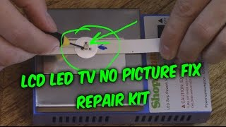 getlinkyoutube.com-EASY LED LCD TV FIX - no picture black screen backlight repair kit