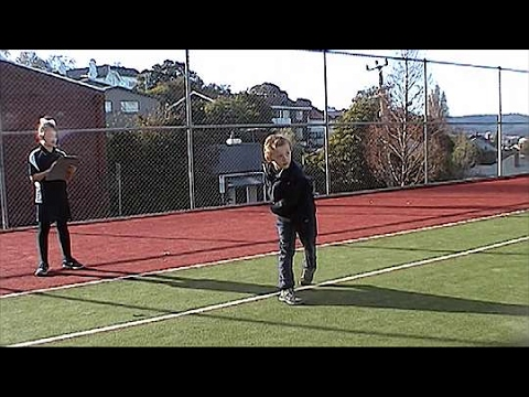 <p>Demonstration: Overarm throw</p>