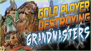 GOLD PLAYER DESTROYING GRANDMASTERS