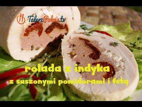 Rolada z indyka z suszonymi pomidorami i fetą