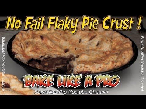 No Fail Flaky Pie Crust Recipe - Easy !