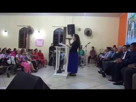 Danieli Silva Louvando no Gideões Ministério de Pelotas em Candelária-RS