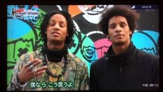 Les Twins teaching French on Japanese TV Programm