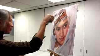 getlinkyoutube.com-楊志榮老師油畫人像示範 (1.5.2014) Oil Painting Portrait Demo by Stephen Yeung 17min ver.