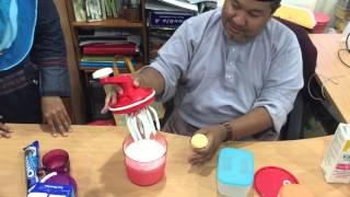 Speedy chef: belajar buat ice cream sendiri dengan tupperware