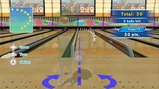 getlinkyoutube.com-Wii Sports Club Bowling - Tricky Pins Training - 300 Points (Perfect Score - Platinum Medal)