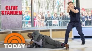 getlinkyoutube.com-'Taken' Star Clive Standen And Al Roker Tackle Live Action Stunt In Studio 1A | TODAY