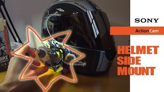 getlinkyoutube.com-Sony Action cam helmet side mount --- monaje lateral casco