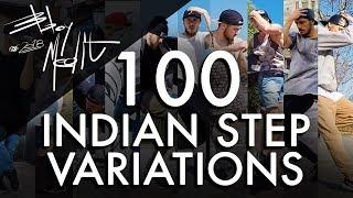 100 INDIAN STEP VARIATIONS • ULTIMATE Breakdance Toprock tutorial • Bboy MeditRock width=