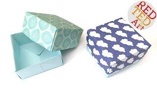 getlinkyoutube.com-How to Make Paper Box Tutorial - Easy Origami Box