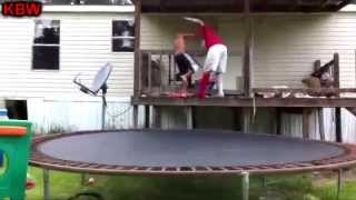 getlinkyoutube.com-Trampoline Wrestling: KBW- Royal Rumble 2