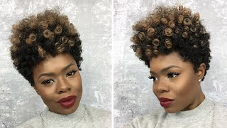 getlinkyoutube.com-How to Make a Tapered Cut Crochet Wig w/Curlkalon | MariaAntoinetteTV
