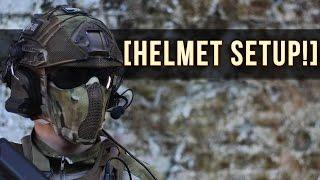getlinkyoutube.com-AIRSOFT HELMET SETUP! | FACE PROTECTION + GO PRO!
