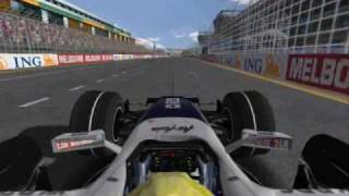 Rfactor FSOne -Australia- Albert Park- On Board
