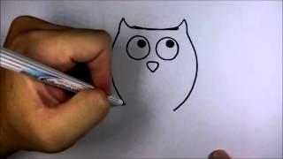 getlinkyoutube.com-วาดการ์ตูน กันเถอะ สอนวาด การ์ตูน นกฮูก