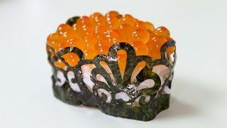 getlinkyoutube.com-Cutting Nori in Patterns - Sushi Cooking Ideas #2
