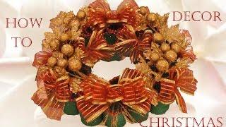 getlinkyoutube.com-Como hacer una corona de Navidad - How to gifts and cute decorations Christmas holidays