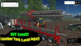 getlinkyoutube.com-Farming Simulator 2015 SawMill, Off loading the semi