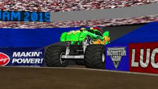 getlinkyoutube.com-Rigs of Rods Monster Jam: Max-D VS. Dragon Freestyle @ Atlanta 2015