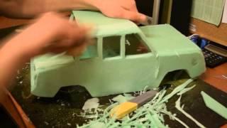 getlinkyoutube.com-How to make RC car body shell СМЗ с3д