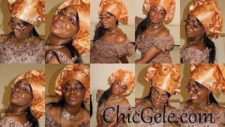 How to tie Gele: Easy peezy 1 minute style