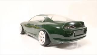 getlinkyoutube.com-eac RC Body Build -- Toyota Supra MK4