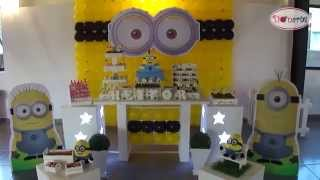 getlinkyoutube.com-Kit Locação Decoração de Festa Tema Minions Donarte (meu malvado favorito personagens)