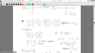 Transformations using Matrices part 1 (ex 4-2)