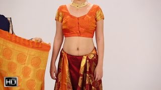 getlinkyoutube.com-How To Wear A Saree In 2 Mins – Indian Style Silk Saree For Wedding