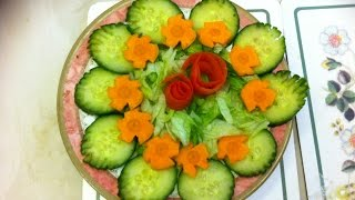 How to cut salad