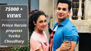 getlinkyoutube.com-Prince Narula proposes Yuvika Choudhary on camera!
