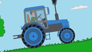getlinkyoutube.com-Мультфильм для детей про машинки - Пазл - Тракторы - Часть 1