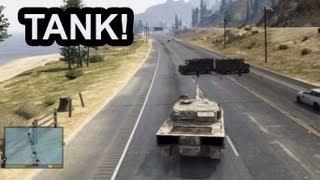 getlinkyoutube.com-GTA 5: Army Tank Rampage